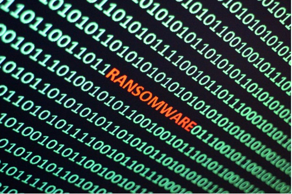 image of ransomware on a desktop for a blog about stopping ransomware in the public sector